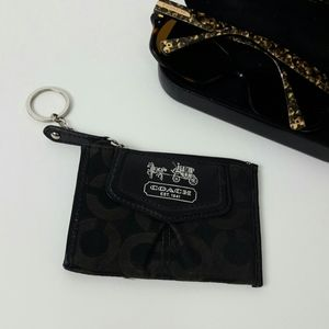 Coach coin black mini wallet purse